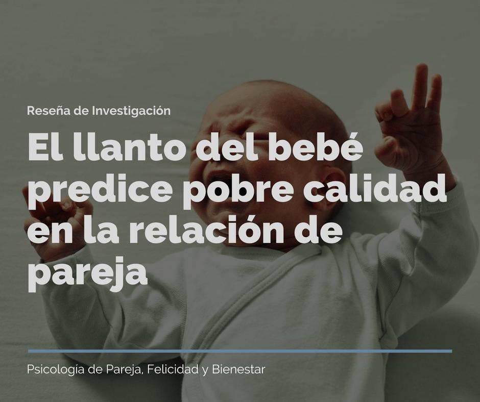 El llanto del bebé predice pobre calidad en la relación de pareja